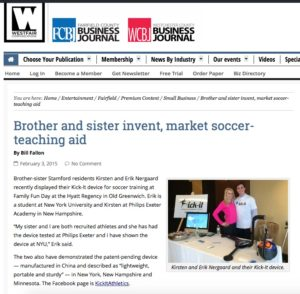 Brother and sister invent, market soccer-teaching aid | Westfair Communications copy